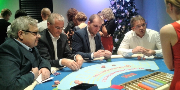 Casino night firemný večierok Interport 2016